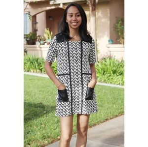 Anthropologie Postmark | zigzag shift dress